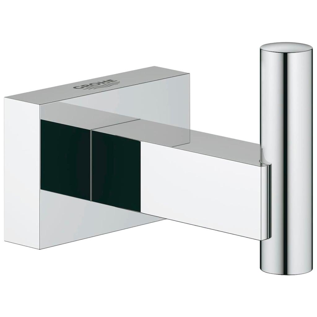 Grohe Handtuchhaken »Essentials Cube«, mit Grohe StarLight Oberfläche, verchromt, rostfrei