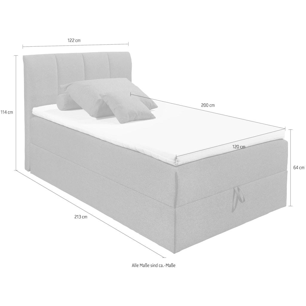 Polsterbett »Granada«, inkl. Bettkasten und Topper