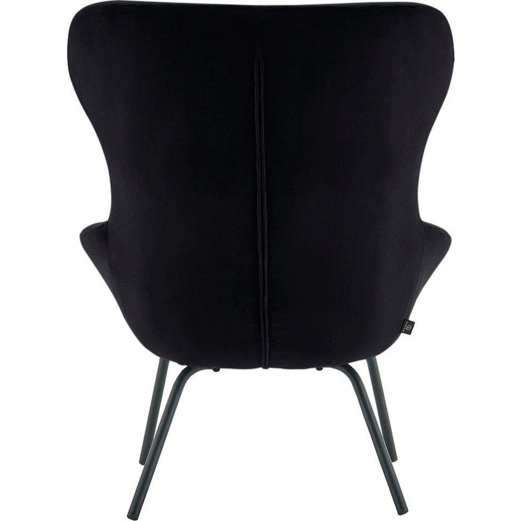 andas Sessel »Steen«, mit einem Metallgestell und einem pflegeleichten, weichen Samtvelours Bezug, Sitzhöhe 44 cm