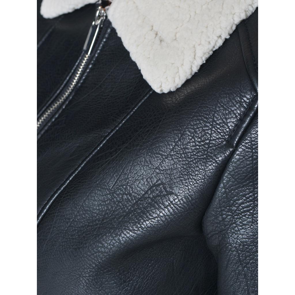Maze Lederjacke PU mit weichem Kragen