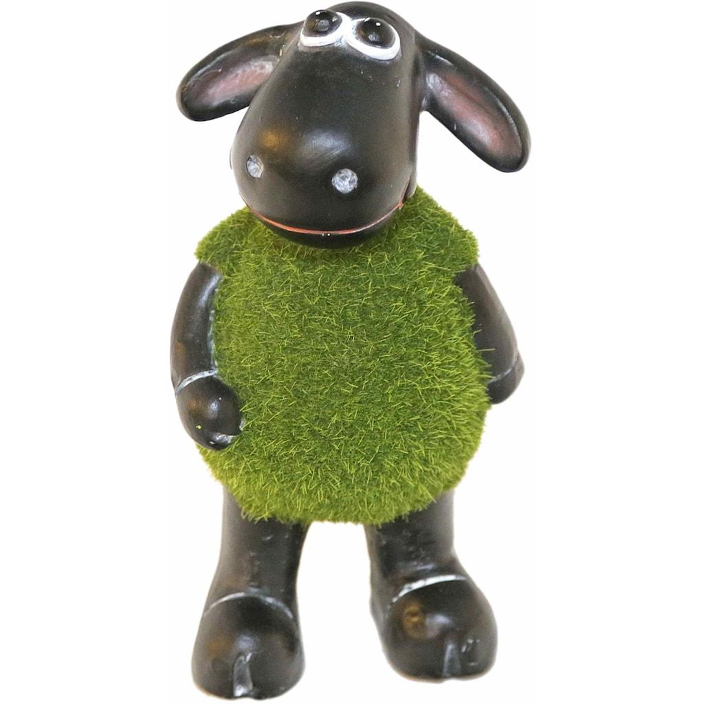 Casa Collection by Jänig Tierfigur »Schaf grün (mit Rasenfell) auf 2 Beinen stehend, Höhe: 18cm«