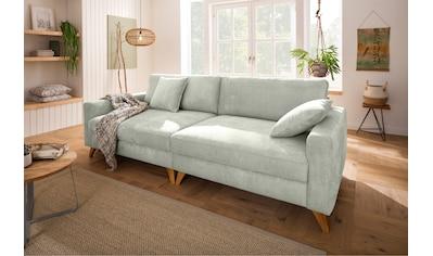 Home affaire Big-Sofa »Stanza«, incl. 2 Zierkissen und Keder, moderne Holzfüße, B/T/H: 254/113/89 cm kaufen