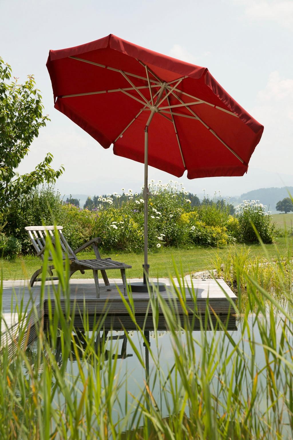 Schneider Schirme Sonnenschirm Orlando, ohne Schirmständer rot Sonnenschirme -segel Gartenmöbel Gartendeko