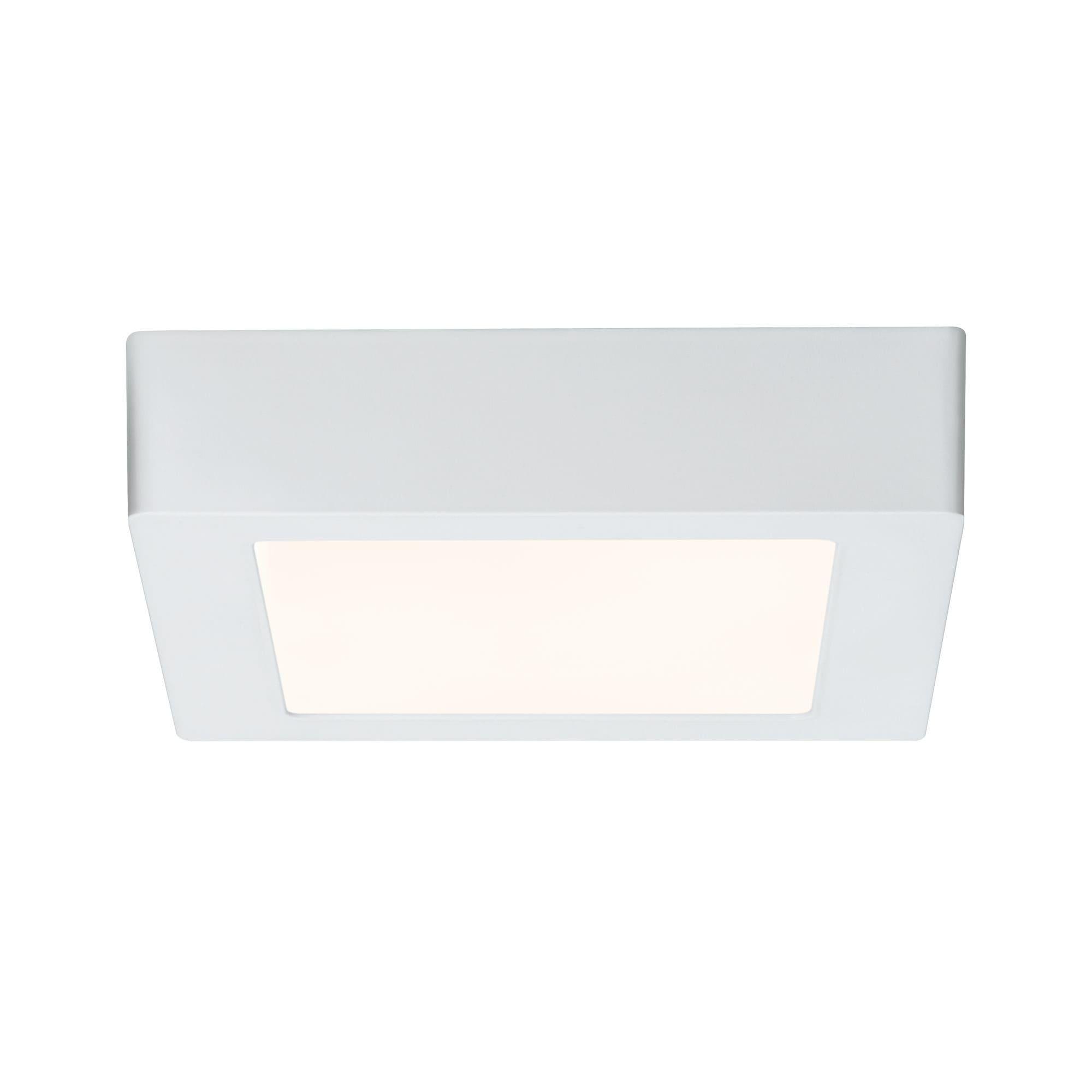 Paulmann LED Deckenleuchte Lunar Panel eckig 170x170 mm 11W Weiß matt Alu, 1 St., Warmweiß