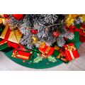 my home Teppich »Weihnachtsstern«, rund, 15 mm Höhe, Tannenbaum-Teppich, Wohnzimmer