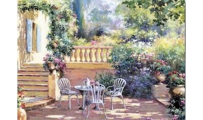 Home affaire Deco-Panel »Romantische Terrasse«, 70/50/2 cm kaufen
