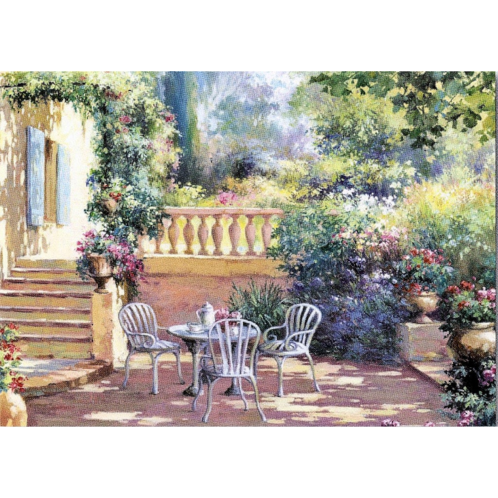 Home affaire Deco-Panel »Romantische Terrasse«, 70/50/2 cm