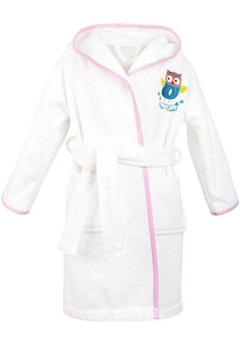 ADELHEID Kinderbademantel »Kleine Eule«, farblich abgesetzter Saum kaufen