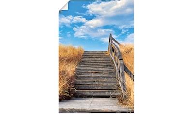 Artland Wandbild »Treppe Bohlenweg Insel Amrum«, Küstenbilder, (1 St.), in vielen... kaufen