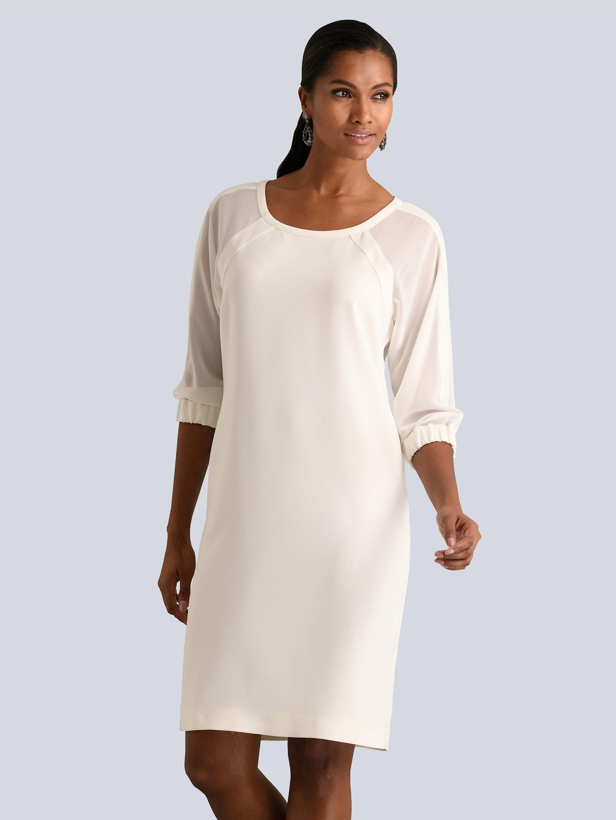 alba moda kleid mit transparenten chiffon-Ärmeln