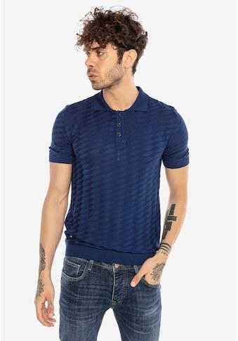 RedBridge Poloshirt »Provo«, mit Strickmuster kaufen