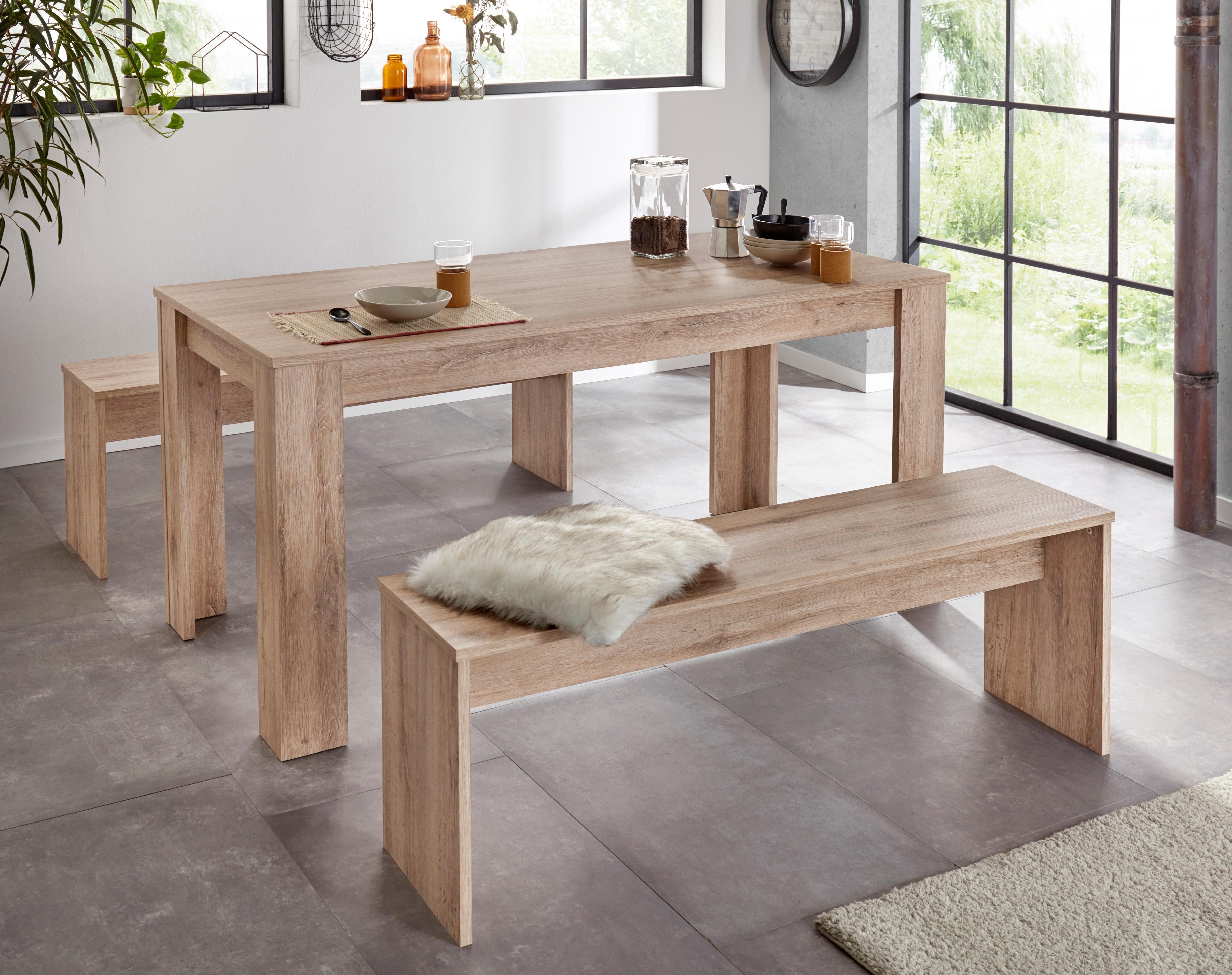 Essgruppe (Set, 3-tlg) beige Essgruppen Tische Sitzmöbel-Sets