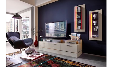 leonardo living tv bank cube fur die lowboards mit 3 glasfachern