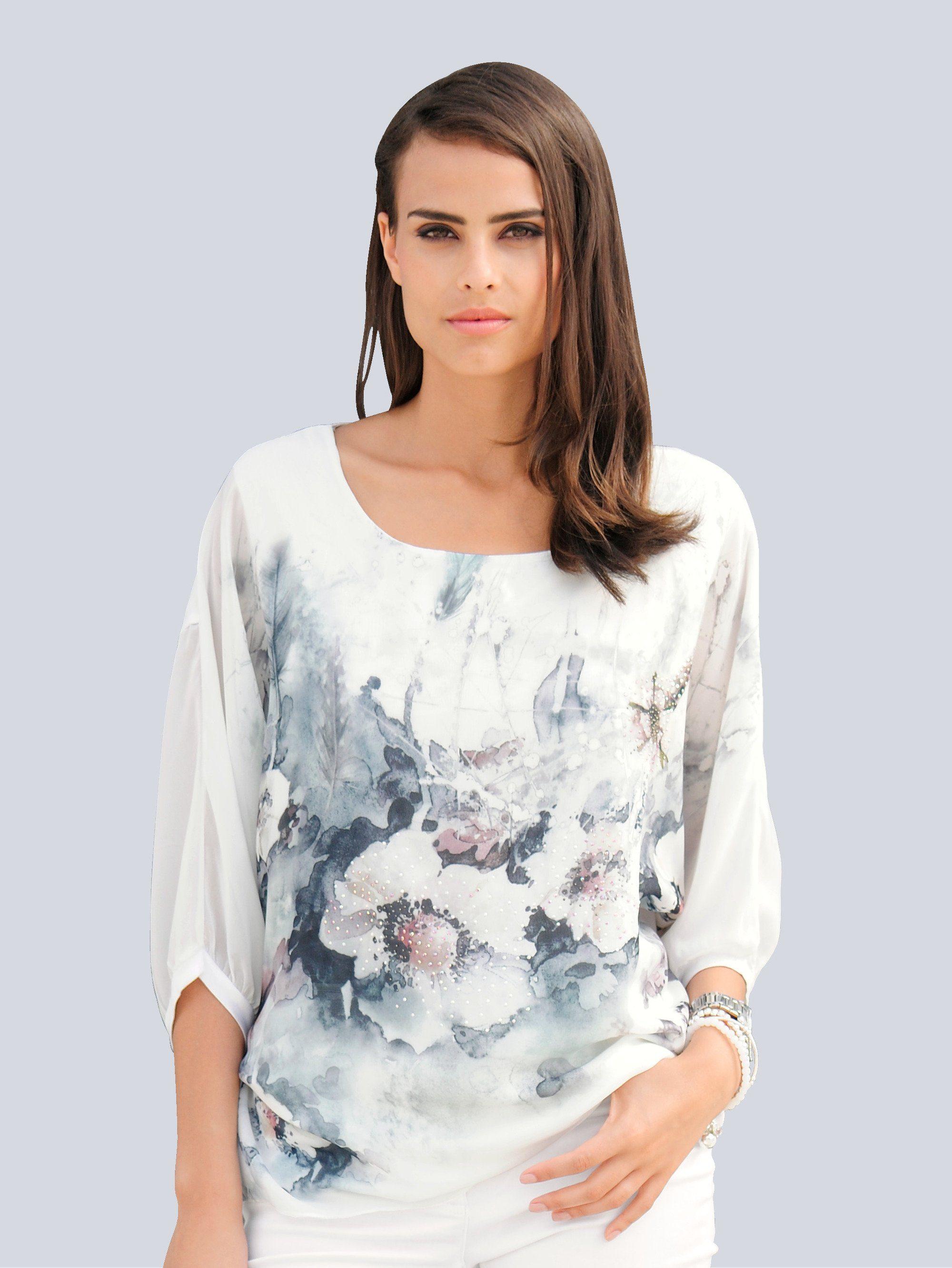 Alba Moda Blusenshirt mit Blumendruck