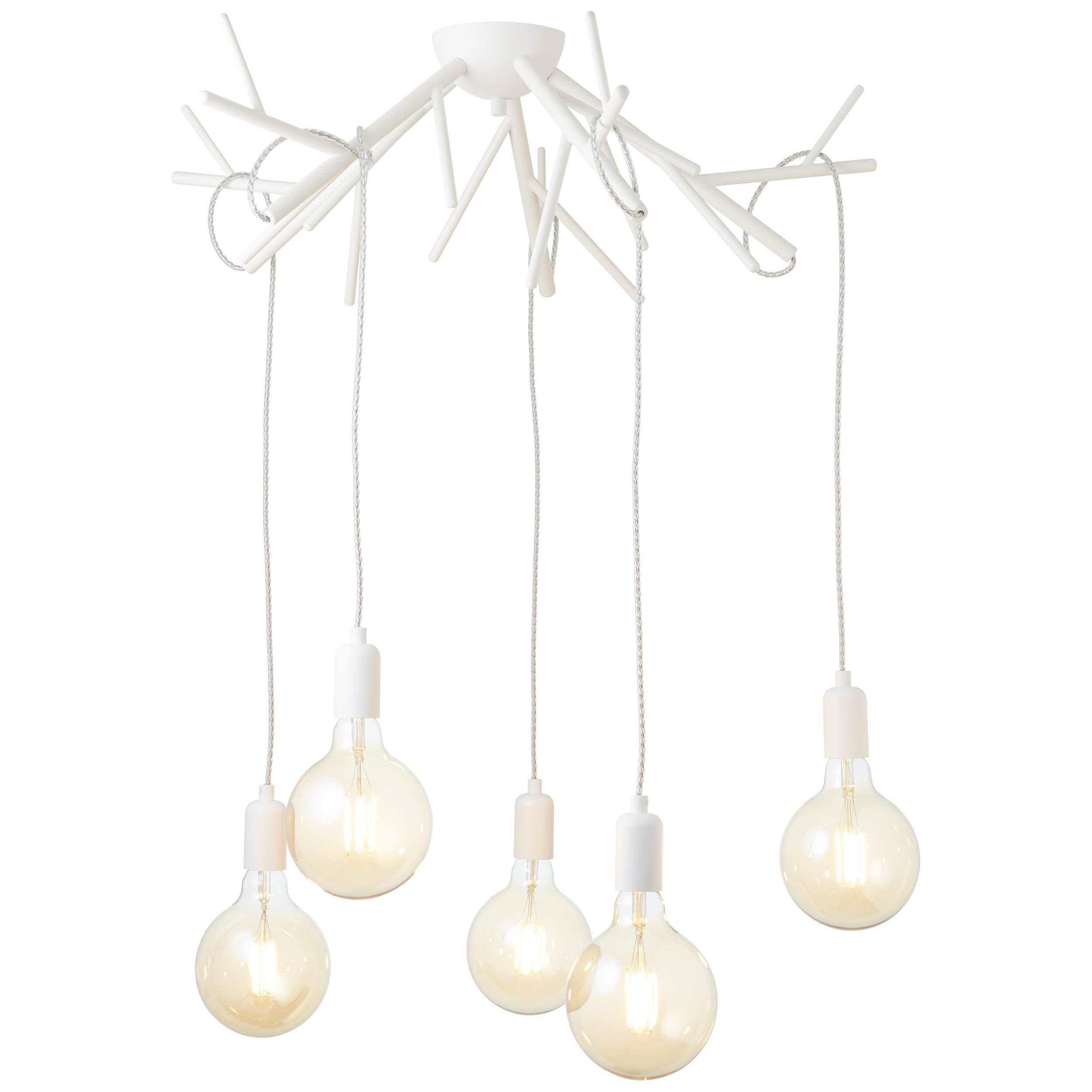 Brilliant Leuchten Faun LED Pendelleuchte 5flg weiÃY matt