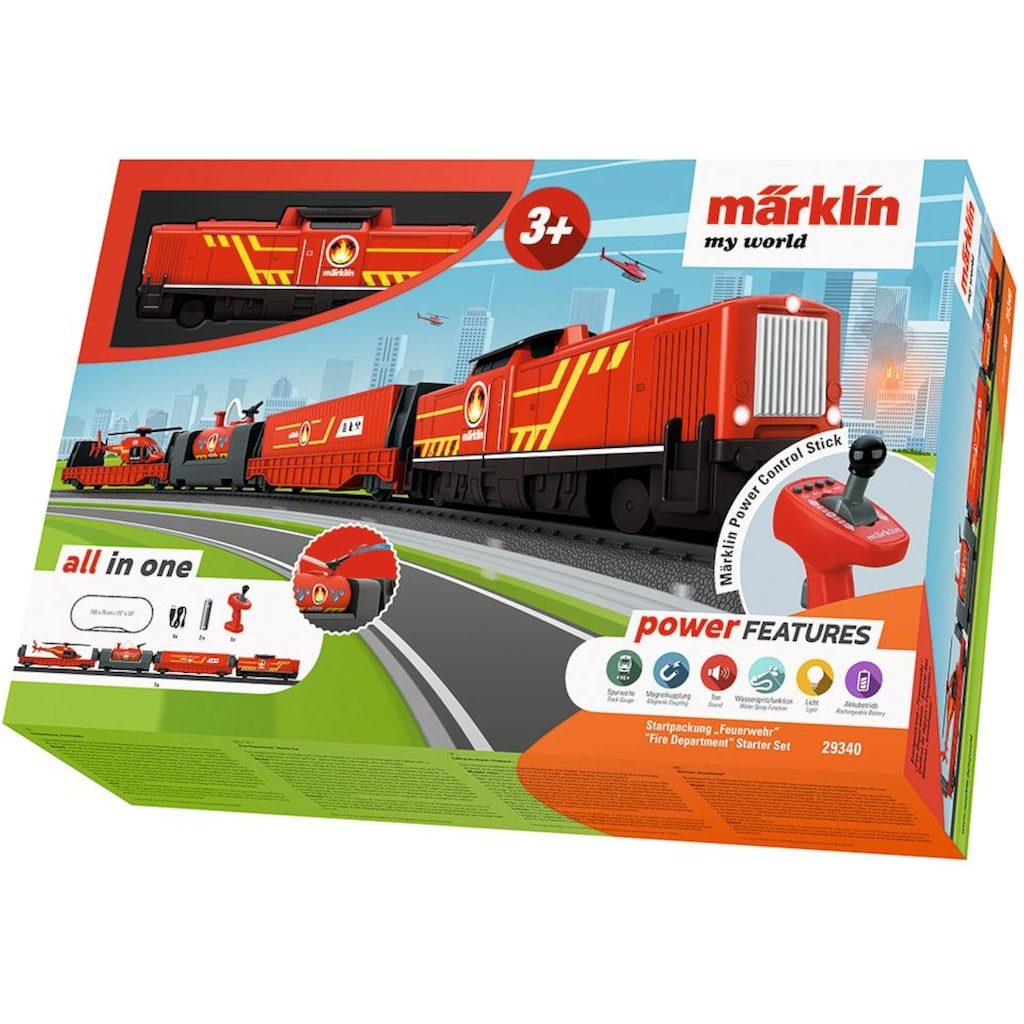 "Märklin Spielzeugeisenbahn-Set ""Märklin my world - Startpackung Feuerwehr - 29340"", Spur H0"