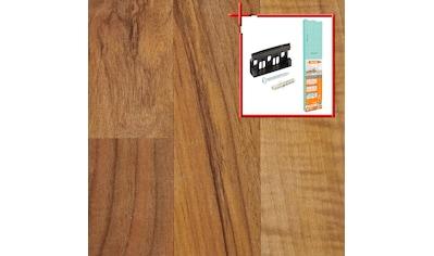 Bodenmeister Laminat »Schiffsboden Nussbaum«, Leiste weiß, Stärke: 7mm, ohne Fuge kaufen