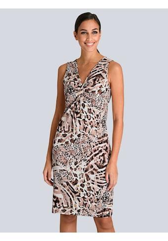 Alba Moda Kleid mit femininem Knotendetail vorne kaufen