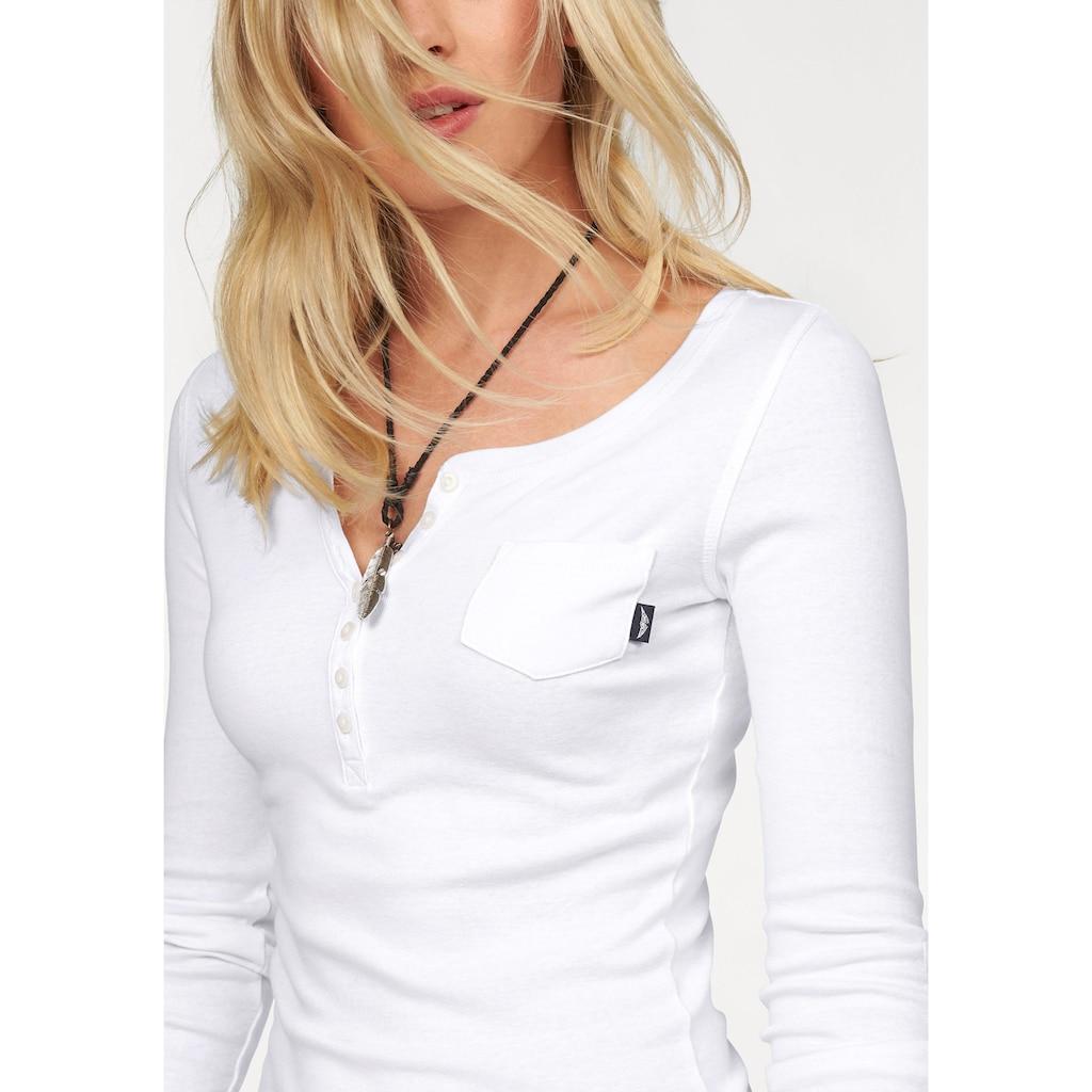 Arizona Langarmshirt, mit Knopfleiste