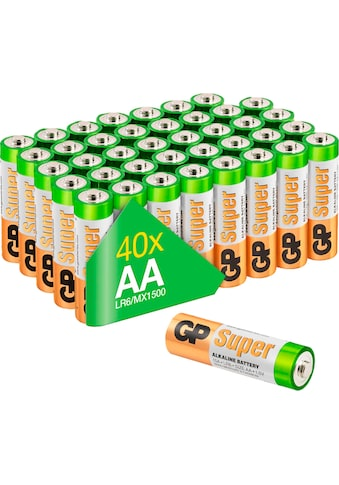 GP Batteries Batterie »Super Alkaline AA - 40 Batterien«, LR6, 1,5 V, (Packung) kaufen