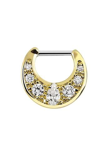 Adelia´s Nasenpiercing »Septum Clicker Nasenpiercing Gold beschichtet mit Steinen«,... kaufen