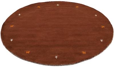 Wollteppich, »Gabbeh Uni«, carpetfine, rund, Höhe 15 mm, handgewebt kaufen