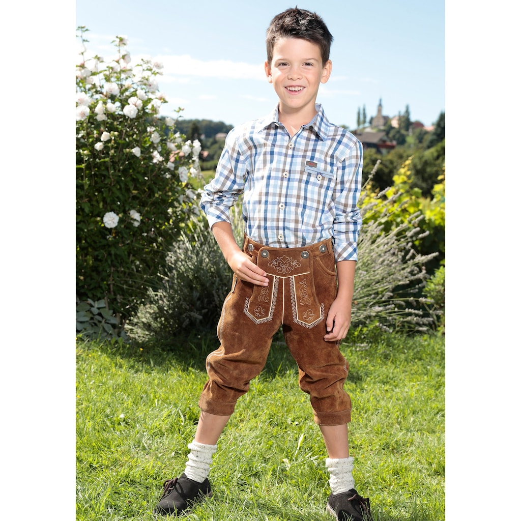 MarJo Trachtenlederhose, (2 tlg.), Kinder im Knickerbocker-Style
