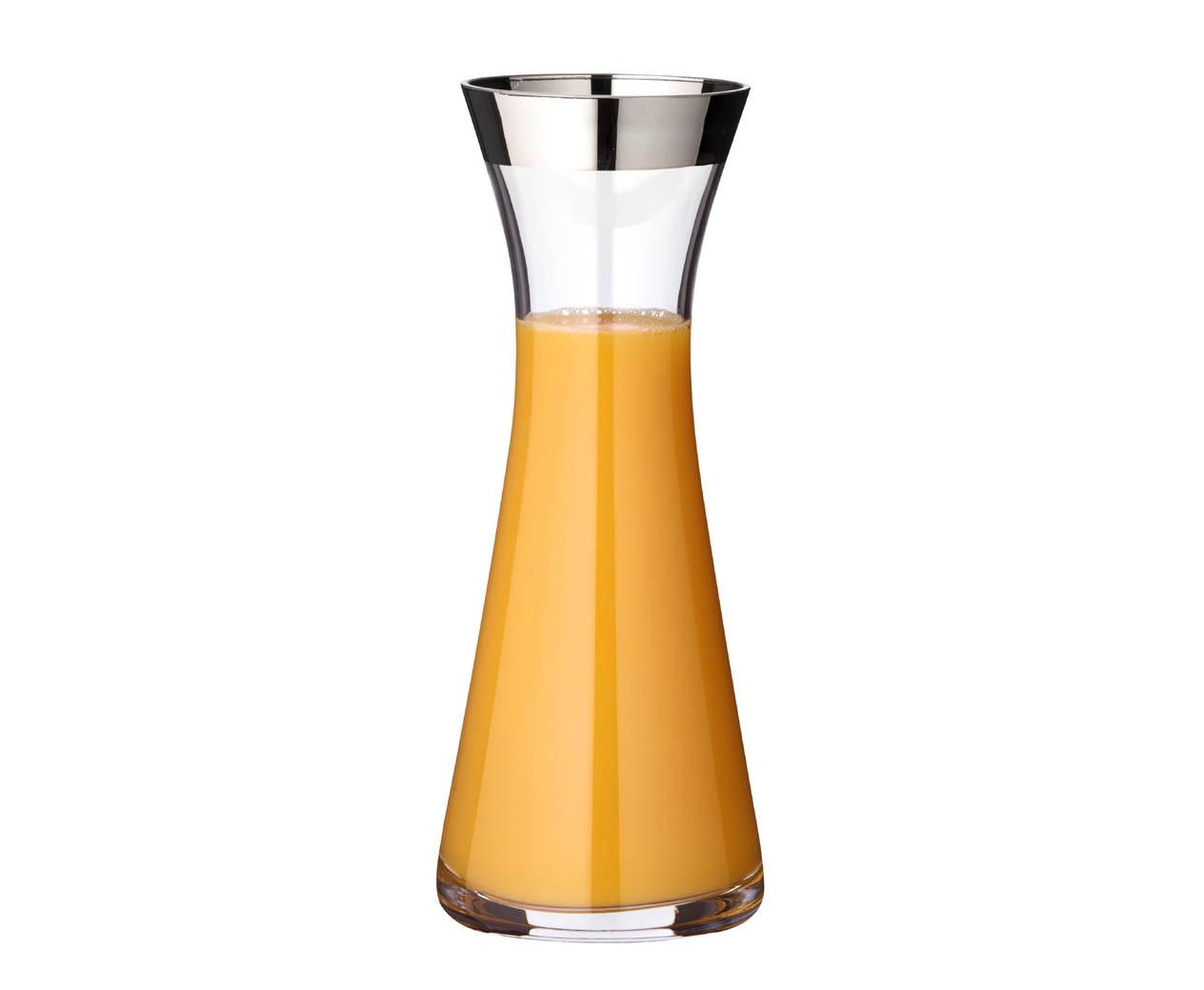 EDZARD Karaffe Hendrik, 0,8 l, Kristallglas mit Platinrand farblos Karaffen Gläser Glaswaren Haushaltswaren Kanne