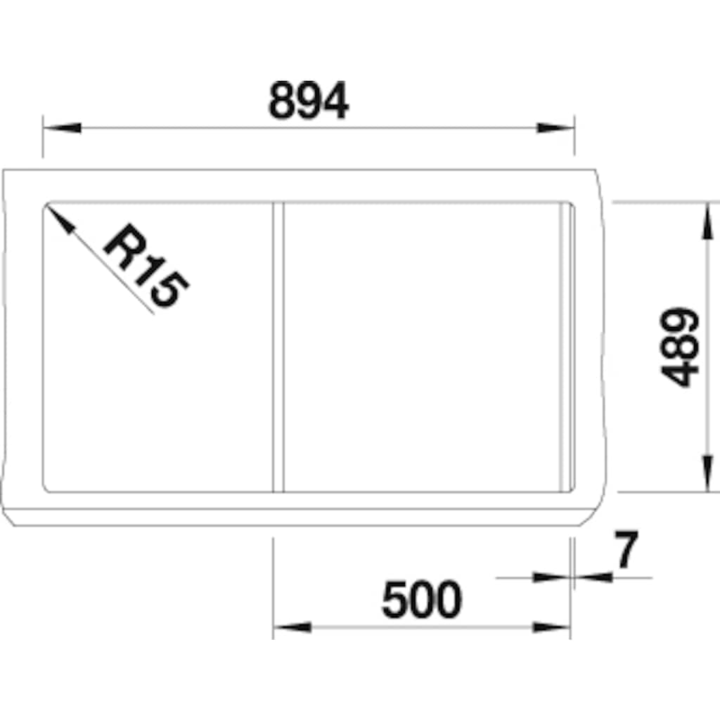 Blanco Küchenspüle »CLASSIC Pro 5 S-IF«, inklusive 1 Edelstahleinsatz