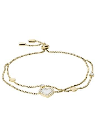 Fossil Armband »HERZ, VINTAGE GLITZ, JF03216710«, mit Glassteinen und Perlmutt kaufen