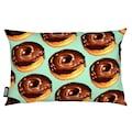 Dekokissen, »Chocolate Donut Pattern -Teal«, Juniqe