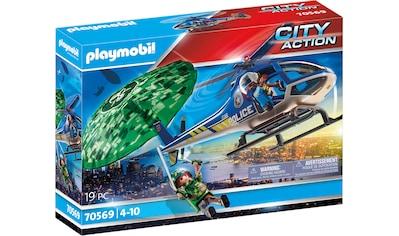 Playmobil® Konstruktions-Spielset »Polizei-Hubschrauber: Fallschirm-Verfolgung... kaufen