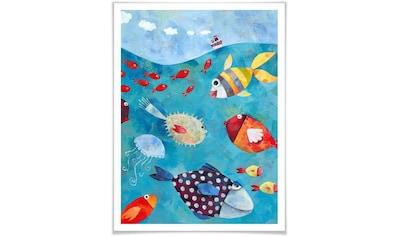 Wall-Art Poster »Märchen Wandbilder Fische im Meer«, Fisch & Meeresfrüchte, (1 St.),... kaufen