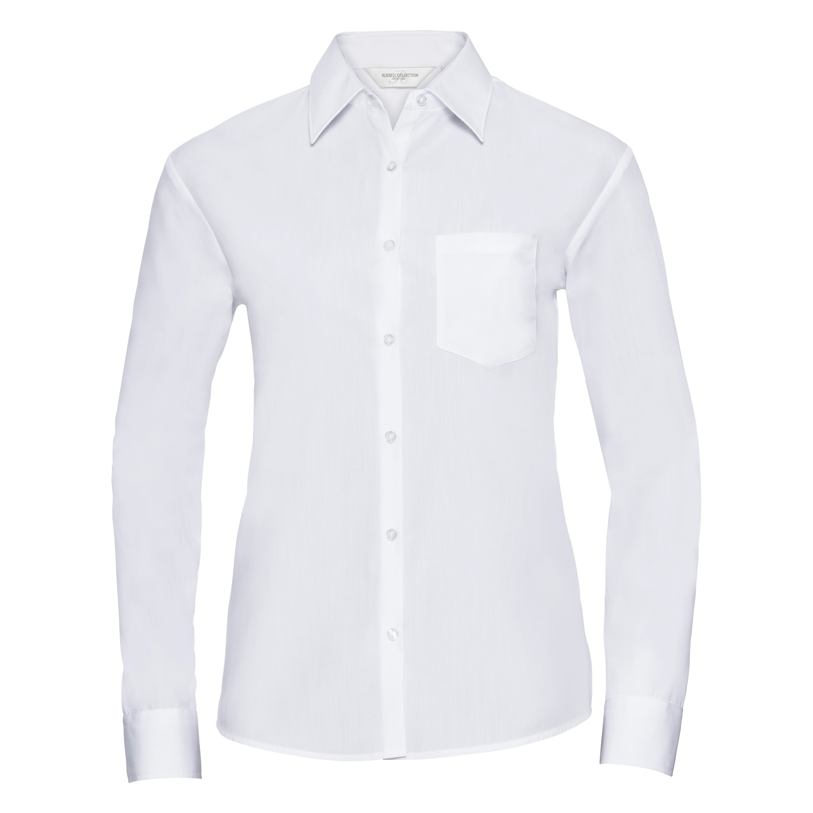 Russell Langarmbluse Collection Easy Care Poplin Bluse Langarm
