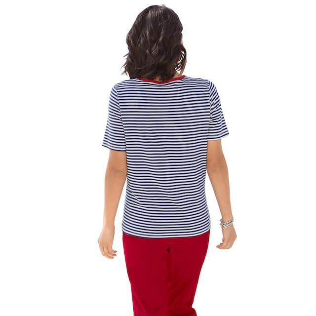 Casual Looks 2-in-1-Shirt mit dekorativem Kontrasteinsatz