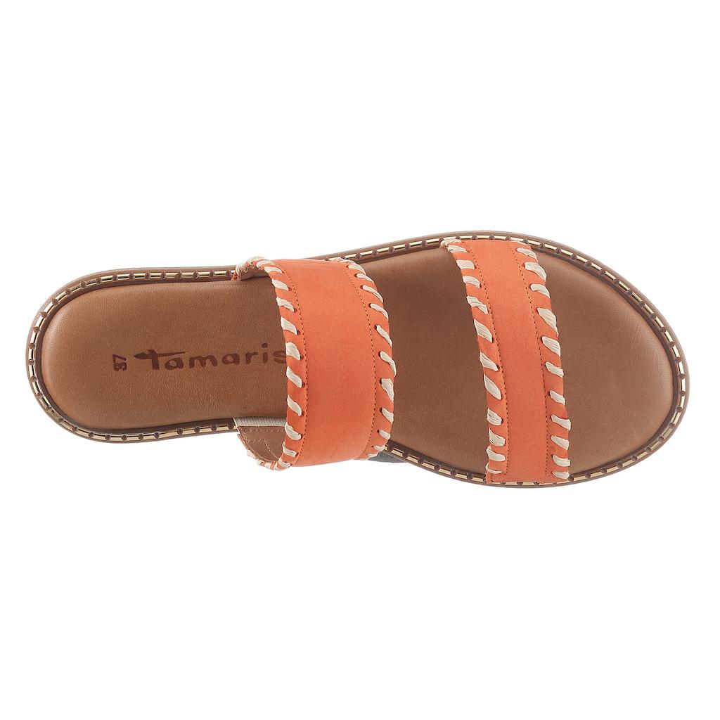 Tamaris Pantolette, im trendigen Ethno-Style