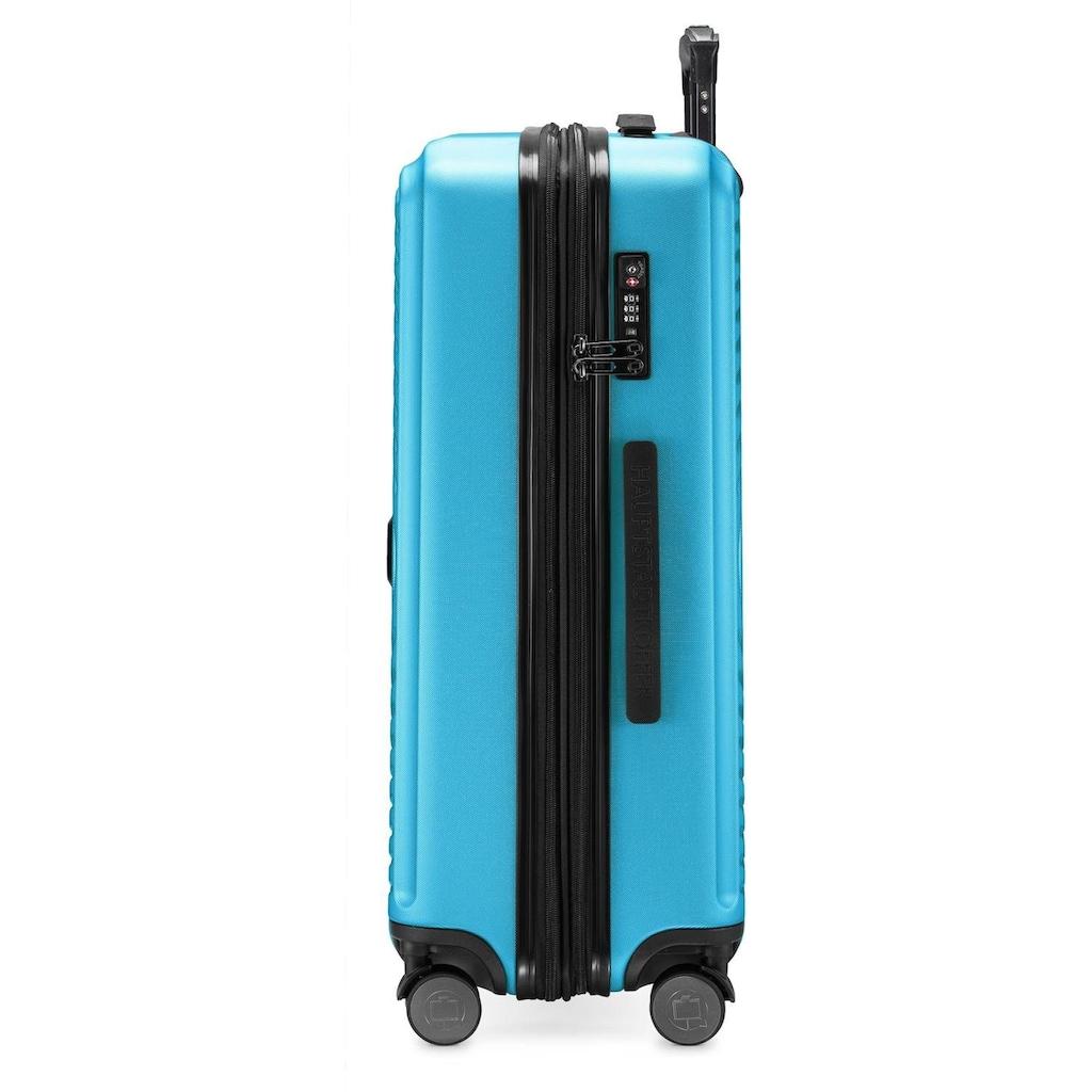 Hauptstadtkoffer Hartschalen-Trolley »Mitte, 68 cm, cyanblau«, 4 Rollen
