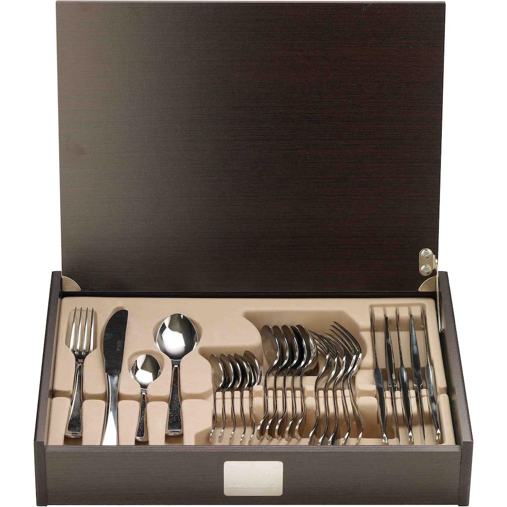 PINTINOX Besteck-Set »Esclusivi«, (Set, 24 tlg.), 24 tlg, Edelstahl 18/10 in einer Holz Geschenkbox