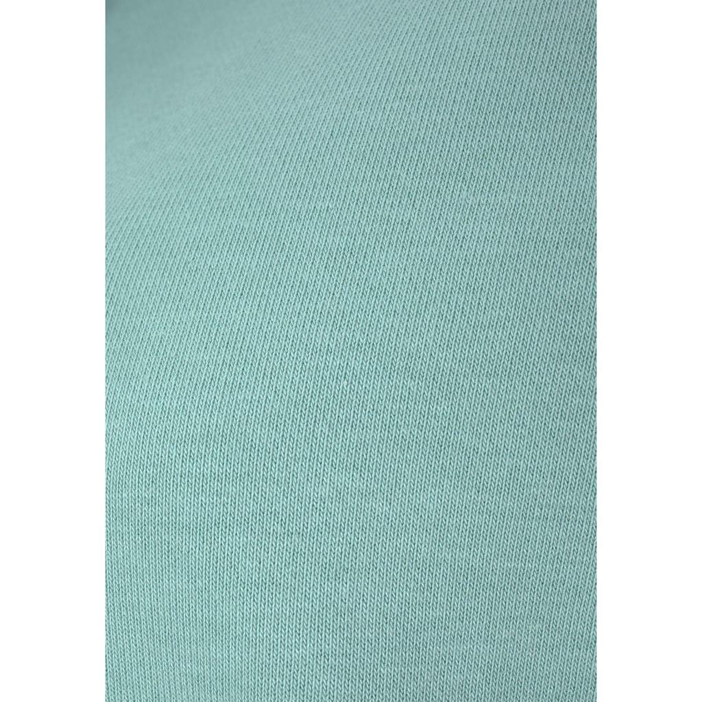 Bench. Sweatjacke, mit Glanzprint am Stehkragen