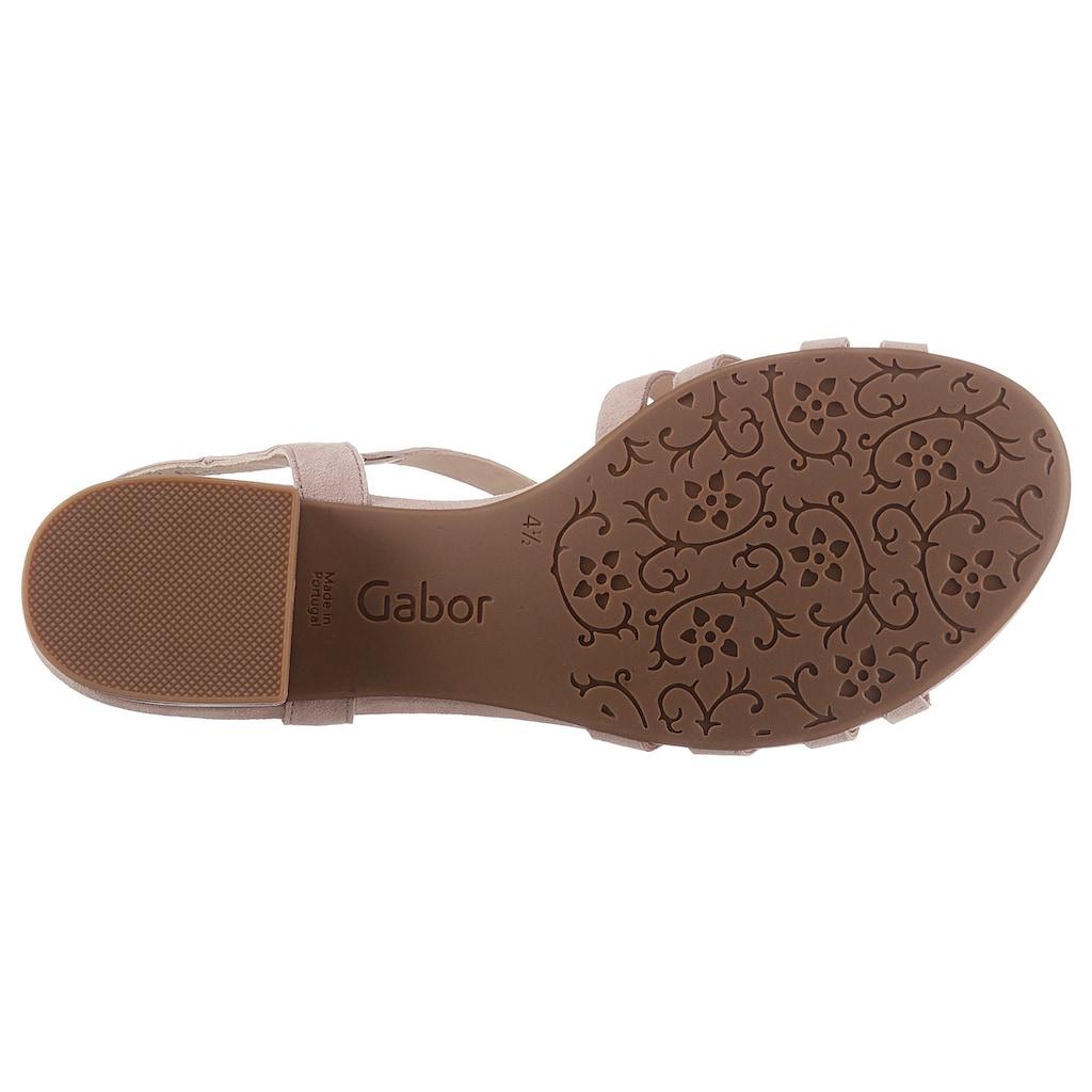 Gabor Sandalette, mit glänzenden Strasssteinchen verziert