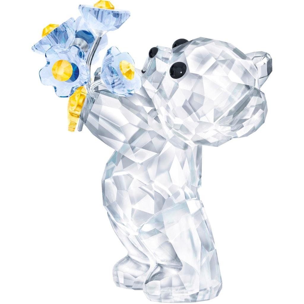 Swarovski Dekofigur »Kris Bär – Vergissmeinnicht, 5427993«, Swarovski® Kristall
