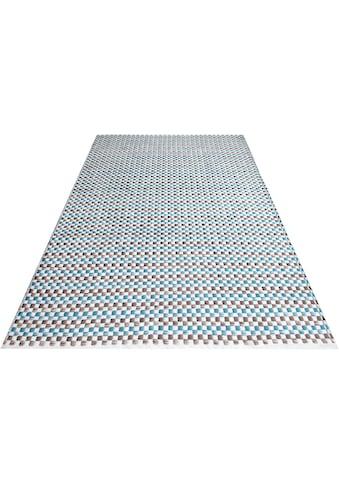OTTO products Teppich »Babetta«, rechteckig, 8 mm Höhe, aus 100% recyceltem Garn, Wohnzimmer kaufen