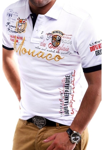 behype Poloshirt »MONACO«, in Piqué-Qualität kaufen
