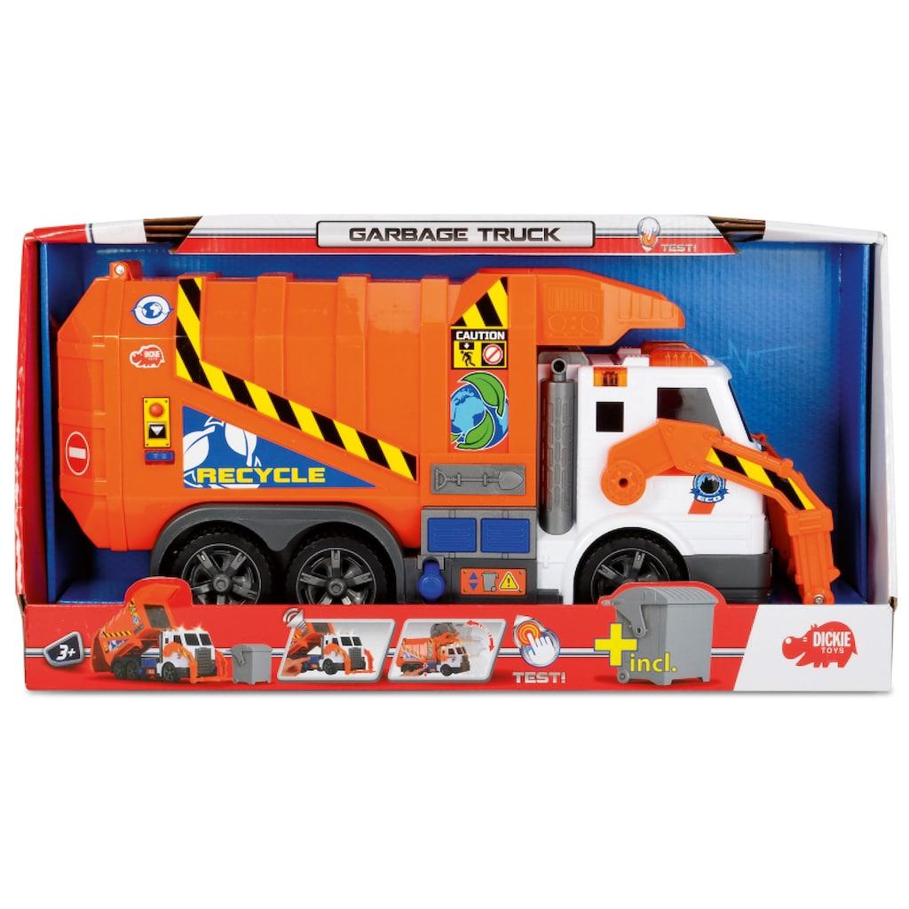 Dickie Toys Spielzeug-Müllwagen »Action Series Garbage Truck«, mit Licht und Sound