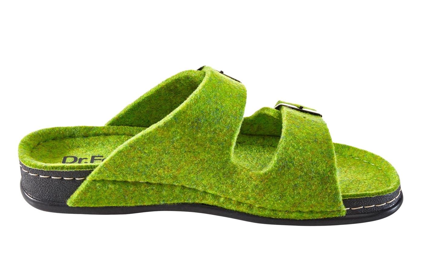 heine home Hausschuh grün Damen Hausschuhe Schuhe Klassische Mode