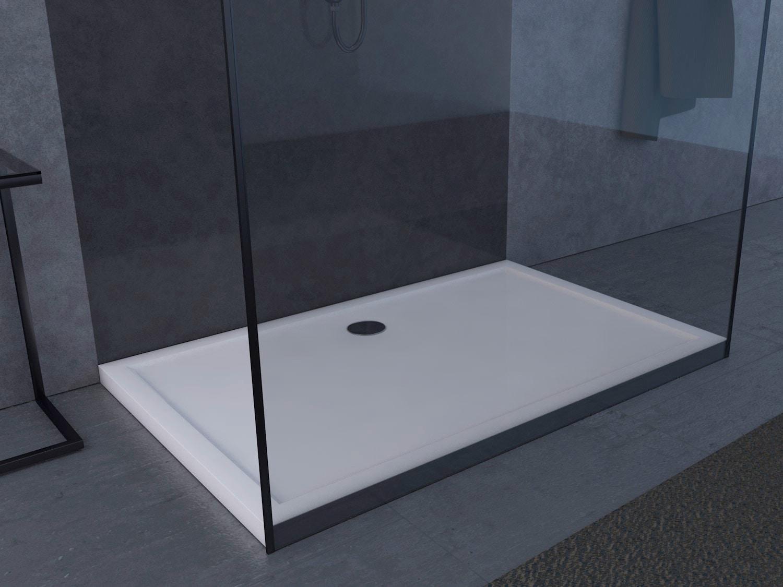 Marwell Rechteckduschwanne, 140 x 90 4 cm weiß Duschwannen Duschen Bad Sanitär Rechteckduschwanne