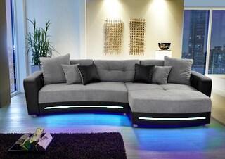 Polsterecke Inklusive Rgb Led Beleuchtung Und Bluetooth Soundsystem