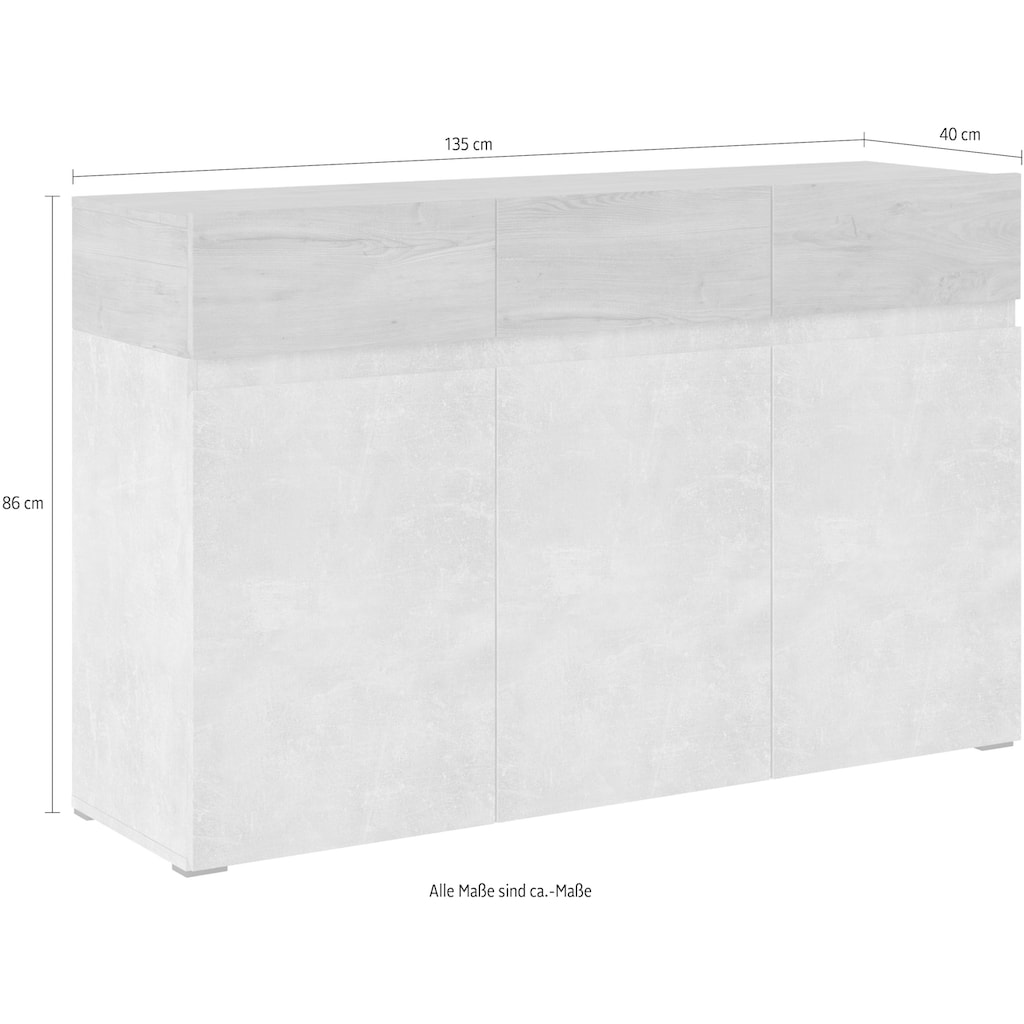 my home Sideboard, Breite 135 cm