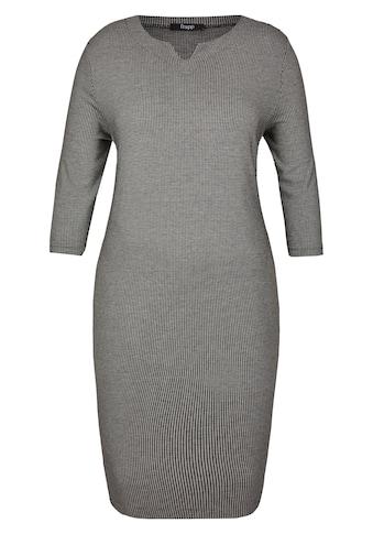 FRAPP Stilvolles Midi - Kleid mit Hahnentritt - Muster Plus Size kaufen