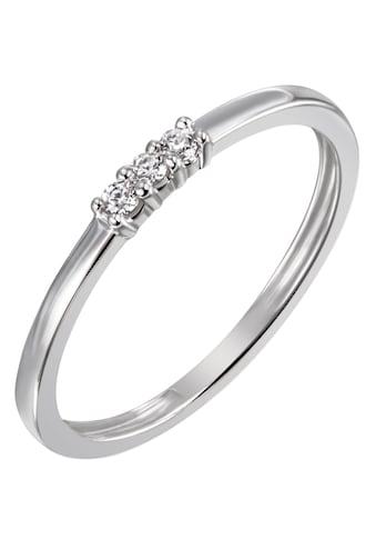 Firetti Diamantring »ca. 1,5 mm breit, in Glanzoptik, rhodiniert, massiv«, mit Brillanten kaufen